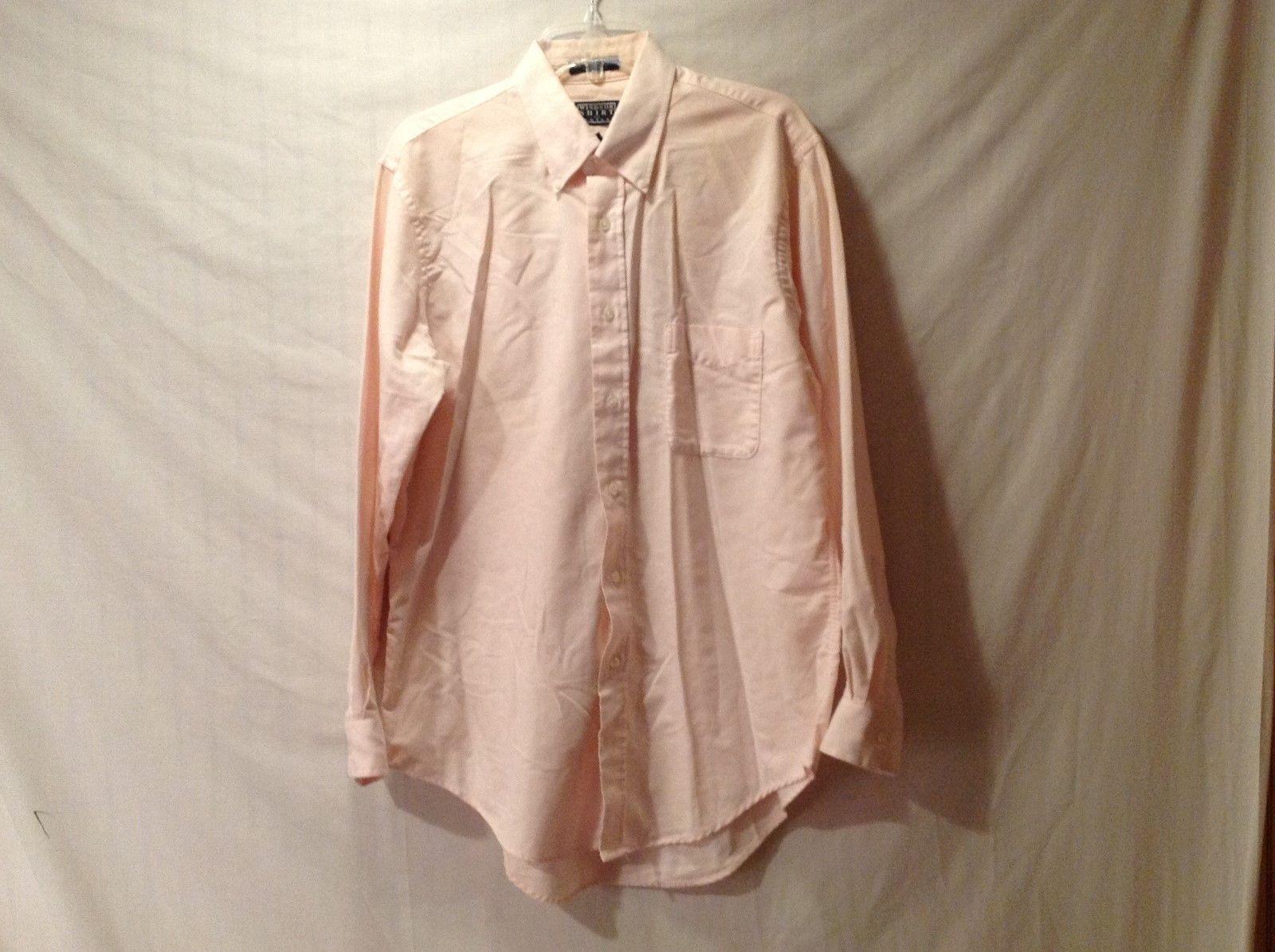 Mens WINDSOR SHIRT COMPANY Pink Long-Sleeved Dress Shirt