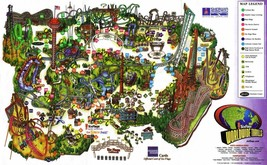 Six Flags Magic Mountain Map 24 X36 Inch Poster, Wall Decor, Amusement Park - $18.99