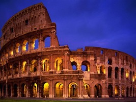 "The Colosseum Italy Rome 24""X36"" Poster, Wall Decor - $18.99"