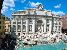 "Trevi Fountain Rome Italy 24""X36"" Glossy Poster, Wall Decor, Living Room - $18.99"