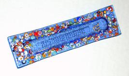 Murano Glass Handmade Mezuzah Case 10 cm w Scroll Blue Murrina Italy image 2