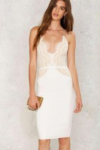 White Sexy O-Neck Sleeveless A-Line Club Dress - $24.95