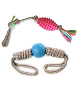 Brogan's Heroes Colorful Cotton Sturdy Woven Large Rope Dog Toys 2-Pack - $16.99