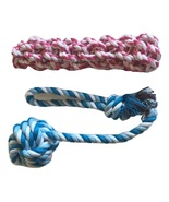 Brogan's Heroes Red and Blue Cotton Braided Rope Dog Toy 2-Pack Set Monk... - $14.99