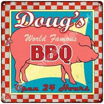 Doug's World Famous BBQ Vintage Reproduction Me... - $26.95