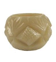 83778a cream glass pineapple diamond fan open salt dip cellar thumb200