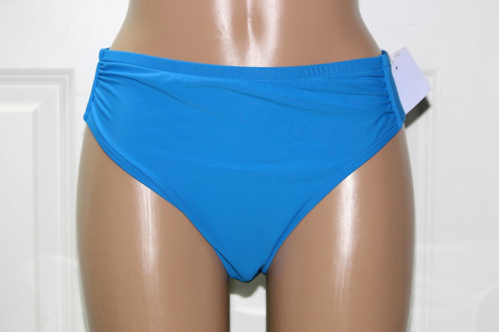 NEW INC International Concepts Solid Blue BLU Swim Bikini Bottom sz 10 #470427 - $6.23