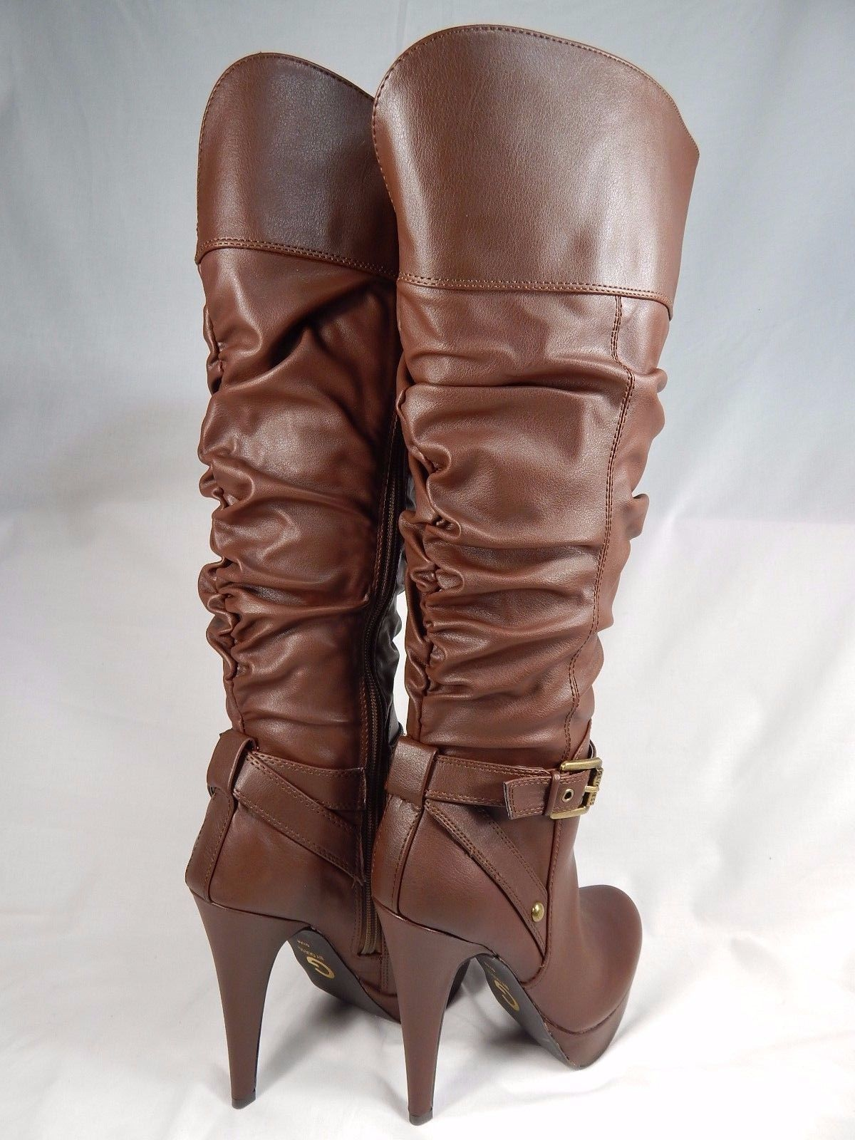 G by Guess Dorbii Knee High Boots Wide Calf Women's Size US 5.5 M (B) Brown $99