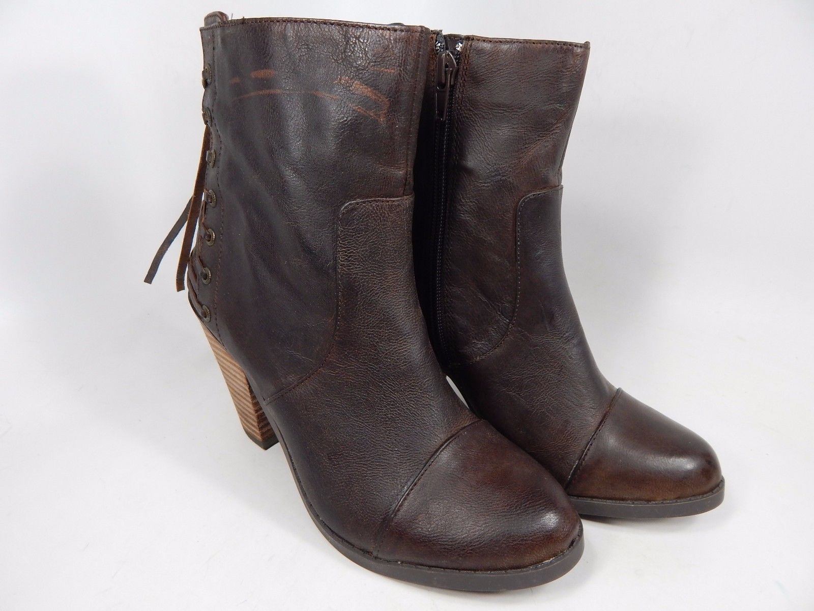 Adam Tucker by Me Too Peru 4 Ankle Boots Women's Size US 6 M (B) Brown $139