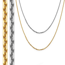 0.92mm 14k Solid Yellow Or White Gold Thin Cable Link Chain Necklace 1133BC - $86.11+