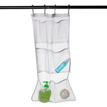 Popluar Bathroom Save Space Tub Shower Hanging Mesh Organizer 6 Pockets ... - $13.51