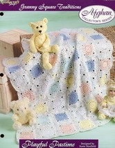 Playful Pastime TNS Granny Square Afghan Crochet PATTERN/Instructions - $2.67