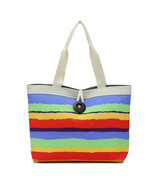 New Colorful 4Colors Fashion Striped Canvas Bag Casual Shoulder Bag Hand... - £8.65 GBP