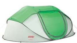 Coleman Popup 4 Tent Green/Gray Instant Camping Tent Sleeps 4 Hunt Hike ... - $95.95