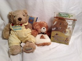 NEW Stephan Baby Teddy Bear Rattle and Boo-Roo Ice Pk Toy Set
