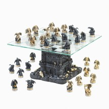 Adult Dragon Chess Set, Theme Chess Set Glass Ultimate Dragon Decorative - $233.69
