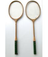 Vintage Cortland Premier Badminton Rackets Racquets 2 in Set Circa 50's ... - $53.95