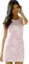 $198 Lilly Pulitzer Kaylee Hubba Bubba Sea Cups Lace Detail Shift Dress 10 - $166.50