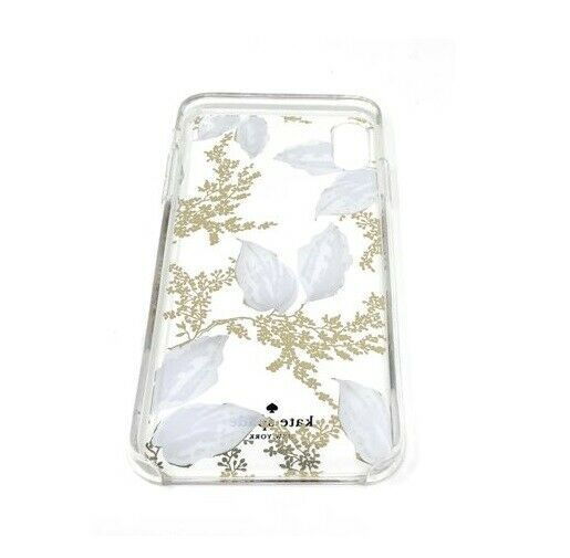 Kate Spade New York Birchway Floral Print Hardshell Case for iPhone Xs Max, Gold image 2