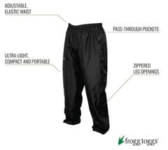 FROGG TOGGS Women's Java Toadz 2.5 Ultra Light Waterproof Breathable Rain Pant image 2