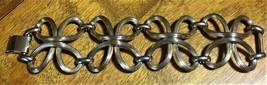 Signed Napier Vintage Wide Chunky Modernist Twist Gold Tone Bracelet - $67.72