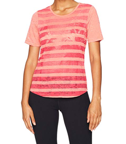 XS 0-2 Lole Women's Lane Scoop Tee Short Sleeve Shirt Top T-Shirt Georgia Peach