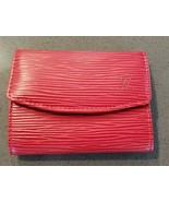 LOUIS VUITTON Red Epi Leather Portmone Simple Card/Coin Case - $225.00