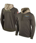 Youth Detroit Lions Salute to Service Sideline Therma Pullover Hoodie - $52.99