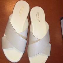 Cole Haan Anica Women's Flats Sandals Slip On Flip FLop SIZE 7 White Lea... - $56.30