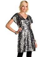 Gianni Bini Storm Gray Sequin Embellished Edna Dress Size 6 - $1.304,55 MXN