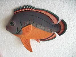 Tropical Fish Wall Plaque Tiki Bar Beach Pool Nautical Decor Size 6 inch... - $9.49