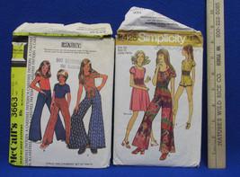 Sewing Pattern Girls Bell Bottom Pants Suit Short Jumper Dress size 5 - $10.88
