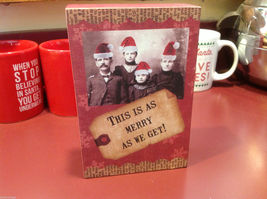 Red Wooden Box Christmas winter This is as merry as we get w Amish serious folk image 5