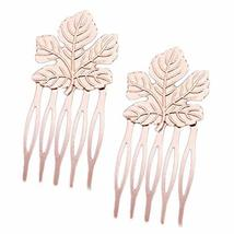 10 Pcs Mini Metal Side Comb Maple Leaf Decorative Hairpin Wedding Veil Hair Clip