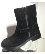 NEW JIL SANDER Navy Suede Shearling Fur Lined Booties (Size 39) - MSRP $... - $199.95