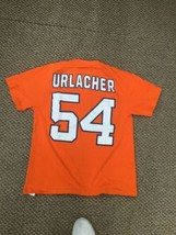 Chicago Bears Brian Urlacher Orange Jersey T-Shirt Large Good Condition - $14.84