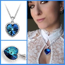 Blue Heart Of Ocean Love Gifts Chokers Necklaces & Pendants For Women Ne... - $8.10