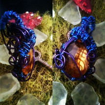 OOAK Handmade wire wrapped faceted  citrine gemstone pendant - $49.00