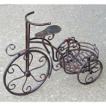 Tricycle Flower Plant Stand (One Pot Plant Stand, Bronze) - $69.99