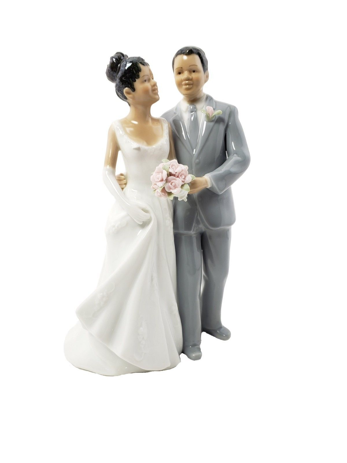 Cosmos African American Bride and Groom Figurine