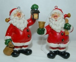 Generic 4 Different Santa Christmas Ornament Set 3 Inches image 2
