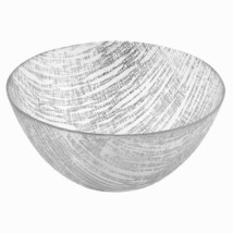 """TDG-221-4512822910826 11"""" Hand Crafted Glass Silver Accent Salad or Serv... - $67.40"""