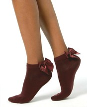 INC International Concepts Femmes 1-Pair Noeud No-Show Chaussettes, Vin Red , OS