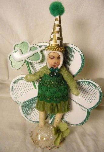 VINTAGE INSPIRED SPUN COTTON BIG CLOVER GIRL ST PATRICK'S DAY