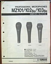Yamaha MZ101 MZ102Be MZ103Be Professionell Mikrofone Original Servicehan... - $17.81