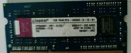 KINGSTON 1 GB 1RX8PC3 10600S-9-10-B1 LOPTOP MEMORY - $55.00