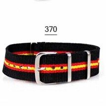 20mm X 255mm Nato Canvas Nylon wrist watch Band strap RED YELLOW BLACK P2 - $10.42