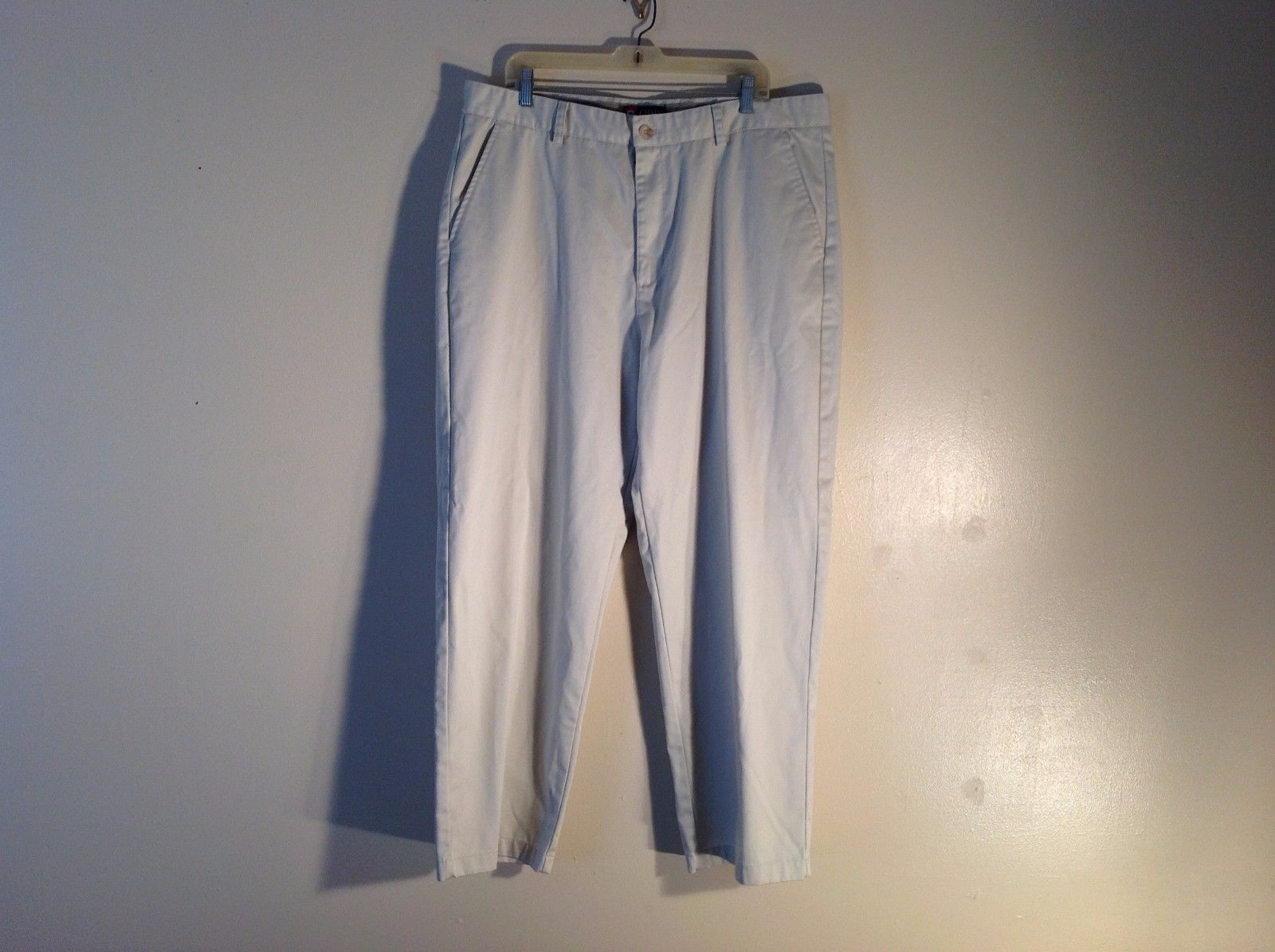 Excellent Condition Chaps W40 L30 Light Color Khakis Made In Egypt 100% Cotton