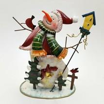 Villeroy & Boch Snowman Holiday Christmas Votive Tea Light Holder  - $27.16