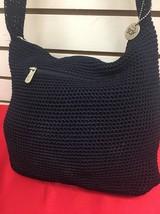 """The Sak Crochet Blue Shoulder Bag Purse Hobo12""""... - $28.05"""
